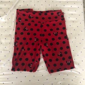 LuLaRoe OS Polka Dot Minnie Mouse Leggings